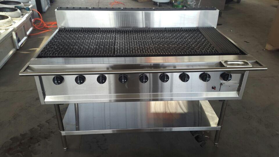 Commercial Large 9 Burner Gas Bbq Grill Machine Huizhou